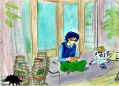 I Made Some Lunch Outlines: @yukimuraruki-art Colouration: @kawaii-o-saurus Size: A4 Medium: Sai, water colours Series: Digimon Adventure Tri Characters: Kidou Jou/Joe Kido, Gomamon Don't Repost,...