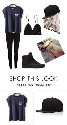 """""""😐"""" by brenna-perrie-mitchell ❤ liked on Polyvore featuring JUST DON"""