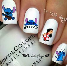 Lilo & Stitch Disney cartoon Nail Art Water Slide Sticker Decals US Seller B34