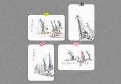 """Postkartenset """"Hamburg   Hafen 01"""" von Christian Wagner, 4er-Set, Zeichnungen, Kunst, Skizzen  #hamburg #hafen #sketches #urbansketching #skizzen #kunst #art #kräne #kran #postkarten Poster, Playing Cards, Fine Art, Embroidery, Drawings, Postcards, Painting, Crane Car, Art Sketches"""