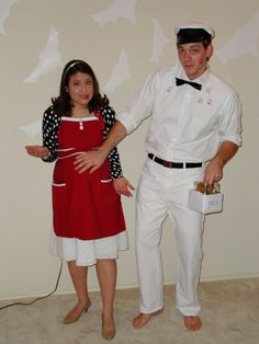 Halloween costume idea...housewife and the milkman haha!