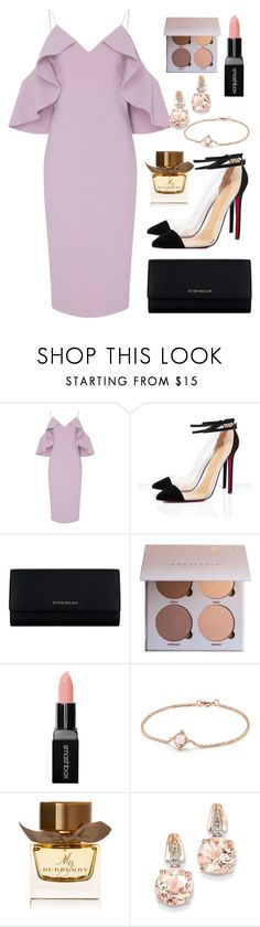 """🍦🍦🍦"" by danistia ❤ liked on Polyvore featuring Christian Siriano, Givenchy, Smashbox, David Yurman, Burberry and BillyTheTree"
