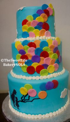 Ballon themed custom birthday cake by The Sweet Life Bakery New Orleans www.nolasweetlife.com email info@nolasweetlife.com (504)371-5153 #nolasweetlife @nolasweetlife