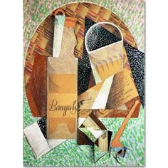 Trademark Fine Art The Bottle of Banyuls, 1914 inch Canvas Art by Juan Gris, Size: 14 x 19, Multicolor