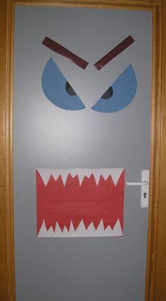 Nuestra puerta de Halloween de este curso
