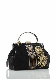 "Versace Women ""Tribeca"" Doctor Bag with Embroider #handbag"