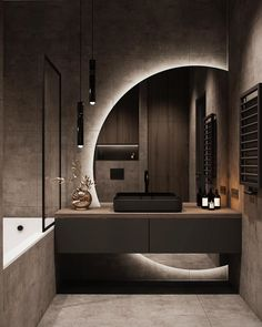 Bathroom Design Luxury, Modern Bathroom Design, Modern House Design, Modern Luxury Bedroom, Luxurious Bedrooms, Modern Tv Room, Luxury Living, Washroom Design, Modern Apartment Design
