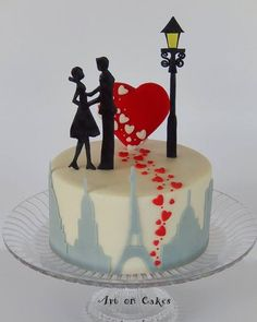 Lindo bolo de Art on Cakes, via Pinterest. #ideiasdebolosefestas #ideiasdebolos…