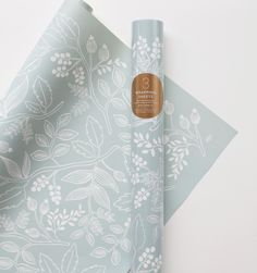 So pretty -- Rifle Paper Company Spearmint Blossoms Set of 3 rolled wrapping sheets