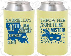 30th Birthday, 30th Birthday Favors, Personalized Birthday Party Favors, Nola Birthday Favors, Mardi Gras Birthday Favors (20246)