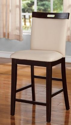 Wonderful Set Of 2, Cream Colored Modern Styled Bar Stools