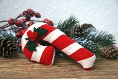 Christmas decorations / fabric ornaments  Candy by BogThomHandmade