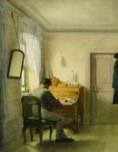 A Man [Artist] at his Desk by Georg Friedrich Kersting 1811 (Goethe Nationalmuseum Weimar).
