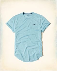 Guys Must-Have Curved Hem T-Shirt | Guys Tops | HollisterCo.com