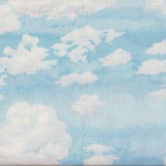 Tissu Jolly Nuages 20 x 110 cm - Makower - Motif Personnel