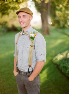 hipster, vintage, cool guy groom look