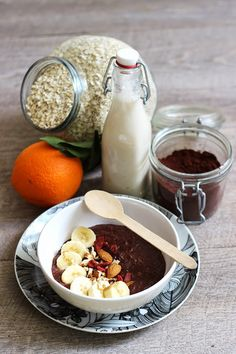 Blog Cuisine & DIY Bordeaux - Bonjour Darling - Anne-Laure: Porridge #1 Choco & Co
