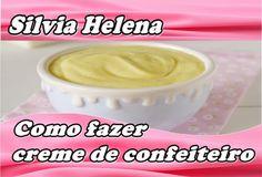 Creme de confeiteiro profissional base para vários recheios de bolo - POR SILVIA HELENA - YouTube