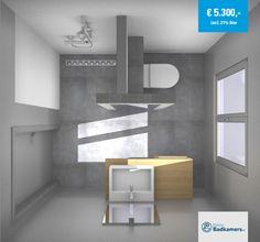Onderstaande badkamer is ontworpen door één van de badkameradviseurs en is onder andere voorzien van glasmozaïek en een grote spiegel. De toelichting per product vindt je door te bewegen over het betreffende product in de afbeelding.
