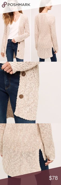 """NWOT Angel of the North Mori Cardigan in pale rose Gorgeous pale rose color and sold out completely from Anthropologie. Super comfy cozy and oversized fit perfect to layer.  Cotton, acrylic, linen Button front Hand wash Made in Italy  Dimensions 26.5""""L Anthropologie Sweaters Cardigans"""