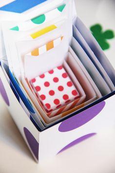 Free Printable DIY Rainbow Nesting Boxes for St. Patrick's Day | Studio DIY