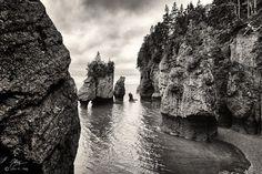 Hopewell Rocks by John A. Haig