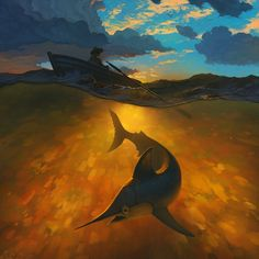 Epic composition > The Old Man And The Sea by RHADS http://www.deviantart.com/art/The-Old-Man-And-The-Sea-505224208?utm_content=buffer9e769&utm_medium=social&utm_source=pinterest.com&utm_campaign=buffer #artoftheday #conceptart