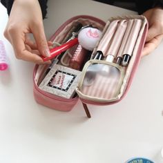Simple Multi Pouch versatile to hold cosmetics, pens, stationary and medication