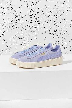 38f31a73d29a17 Women Teen Urban Outfitters Puma Suede Summer Satin Platform Sneaker  ad
