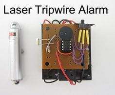 DIY Laser Tripwire Alarm. No security system is complete without lasers.