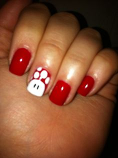 Toad nails! So cute! Especially for a gaming weekend with the guys :)