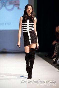 Hooded Skeletal Dress