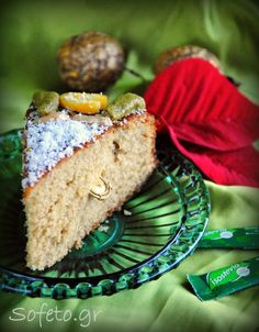 Βασιλόπιτα ( γιαουρτόπιτα ) ολικής αλέσεως , χωρίς ζάχαρη! No Sugar Foods, Sweetest Day, Christmas Desserts, Stevia, Sugar Free, Banana Bread, Muffin, Sweets, Fruit