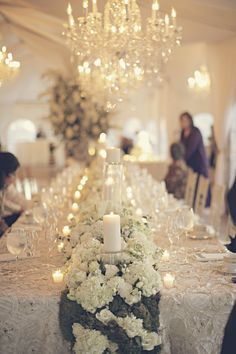 Browse Centerpieces wedding flowers to find bouquets, centerpieces & boutonnieres.Get inspired ideas for everything from classic white wedding bouquets to unique floral wedding décor. Long Table Wedding, Mod Wedding, Floral Wedding, Wedding Events, Wedding Flowers, Wedding Receptions, Wedding Catering, Reception Decorations, Wedding Centerpieces