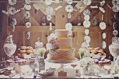 daisy decor dessert table.
