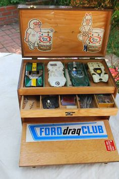 Vintage slot car box, all ready for race day!