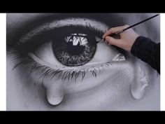 How to Draw a Realistic Eye speed painting (photorealistic) dry brush - YouTube