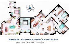the big bang theory apartments