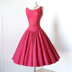 1950's Juniorscope Dress in CORAL RED