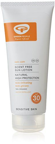 Green People Organic Sun Lotion SPF30 Scent Free 200ml >>> Click on the image for additional details.