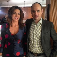 If you've ever caught an episode of HGTV's Love It or List It, then you know the chemistry between hosts David Visentin and Hilary Farr is something to behold. Hgtv, Chemistry, Suit Jacket, Breast, David, Blazer, Suits, Jackets, Fashion