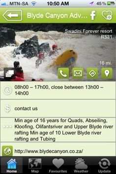 """Blyde Adventure Centre is a hAPPy activity - a """"what to do"""" listing on the Hoedspruit Info App"""