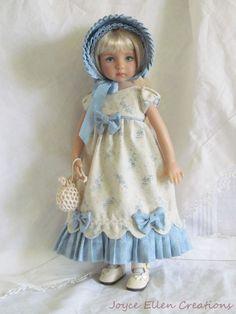 "13"" Effner Little Darling BJD fashion blue & ecru Regency OOAK handmade by JEC #ClothingAccessories"