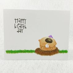 Happy B-earth Day card by It's Your Birthday, Happy Birthday, Paper Smooches, Greeting Cards, Snoopy, Challenges, Earth, Fictional Characters, Happy Brithday