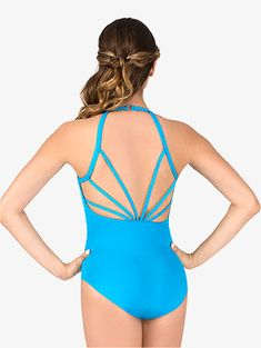 Amp up your leotard style with this gorgeous piece by Natalie Couture. Leotard features camisole straps, a pinched v-front, a clear neck closure, and an open back with strappy detail. Discount Dance Supply, Camisole, Dance Leotards, Couture, Dance Wear, Autumn Fashion, One Piece, Swimwear, Chicago