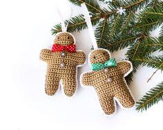 Swiąteczne zawieszki na choinkę - Ciastka - cataneedle - Dekoracje bożonarodzeniowe