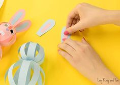 Hop, hop it's time to make a super duper easy paper bunny craft. This one is a great Easter craft, although you can do a rabbit craft any time of the year. For this holiday though, we opted for baby blue and baby pink colors, fitting for a Easter bunny. *this post contains affiliate links* …