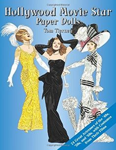 Hollywood Movie Star Paper Dolls: 24 Great Actresses with Costumes from Their Films (Dover Celebrity Paper Dolls): Tom Tierney, Paper Dolls,. Katharine Hepburn, Audrey Hepburn, Paper Dolls Book, Vintage Paper Dolls, Paper Toys, 1950s Movie Stars, Veronica Lake, Dover Publications, Father Of The Bride