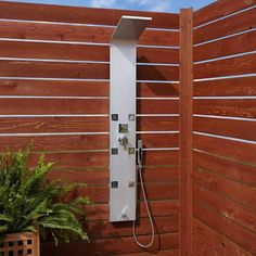Buy the Signature Hardware 400735 Chrome Direct. Shop for the Signature Hardware 400735 Chrome Harlingen Outdoor Shower Panel with Hand Shower and Six Jet Bodysprays and save.