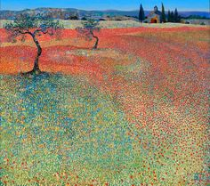 Elysian Fields Artist ~Ton Dubbeldam - a place of blessedness where the three judges of the underworld: Rhadamanthus, Minos, Aeacus send some people